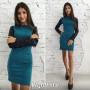 """Платье с кожаным рукавом """"Milana"""" код: 814"""