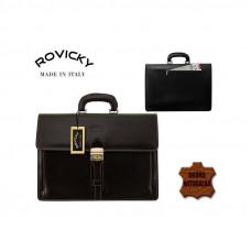 Портфель натуральная кожа производство Италия Rovicky темно-коричневый