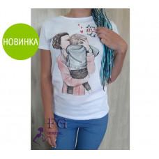 """Женская футболка с рисунком """"One Love"""""""