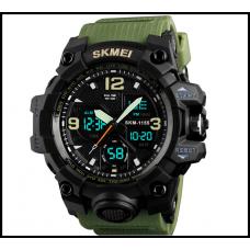 Спортивные часы SKMEI 1155В (водонепроницаемые) цвет - хаки ремешок