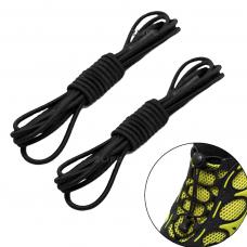 Шнурки для обуви с затяжкой, универсальные, эластичные 2Life две пары в комплекте Черный (n-525)
