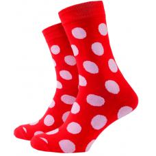 Носки с принтом женские Mushka Beboss dot DRW001 36-39 Красные (009476)