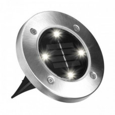 Уличный светильник садовый на солнечной батарее Solar Disk Lights 5050 Серый (210096)