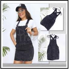 Сарафан джинсовый тёмно-серый Relucky 3313-5