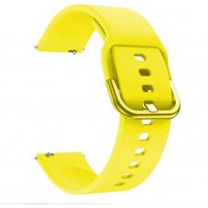 Ремешок силиконовый BeWatch New шириной 20мм универсальный Желтый (1012320)