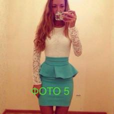 Платье баска гипюр мини 42 44 46