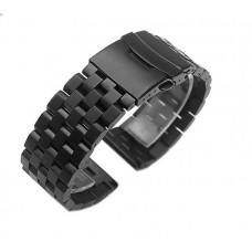 Ремешок-браслет BeWatch шириной 22 мм стальной универсальный BeWatch Quadro Черный (1024401)