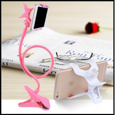 Гибкий Холдер штатив для телефона ALISTOR V90  Розовый  80см