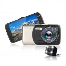 Автомобильный видеорегистратор ALISTOR X600 + выносная камера, широкий обзор