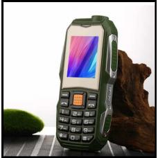 Защищенный Мобильный телефон F88 зелёный Аккумулятор 3800mA! Водоустойчив, удароустойчивый  на английском