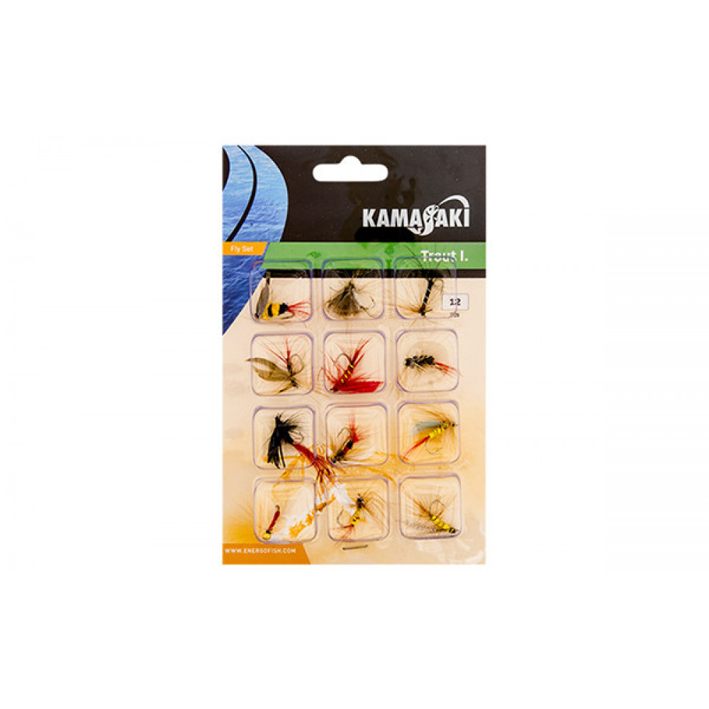 Набор мушек Energofish Kamasaki Fly Set 12 шт (84309010)
