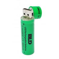 Аккумулятор с USB зарядкой 18650