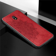 TPU+Textile чехол с 3D тиснением для Xiaomi Redmi 8a (Красный)