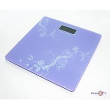 Весы напольные электронные MS 1604 180 Кг + датчик температуры фиолетовые