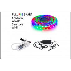 Набор 3в1 SMART FULL RGB LED 5 метров SMD5050-60 IP20 Wi-Fi