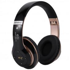Bluetooth наушники 6S с кнопкой ответа, поддержка TF, блютуз 5,0 черные