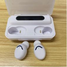 Наушники F9-V5.1 Bluetooth 5,0 TWS сенсорная гарнитура power bank Белые
