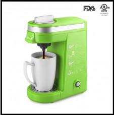 Кофемашина CHULUX QF-CM801 зеленая на одну порцию и многократные кофейные фильтры на четыре порции