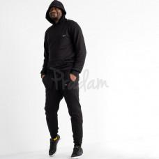 Спортивный костюм мужской двунитка 16218-1 черный Н. Размеры M - 2XL