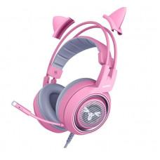 Игровая стереогарнитура SOMIC G951S  Pink с микрофоном с шумоподавлением 3,5 мм
