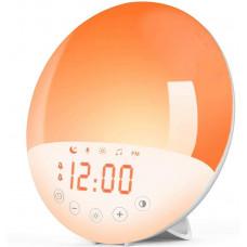 Будильник световой Wake Up, восход солнца с моделированием заката, ночная лампа