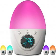 Будильник детский ночник FiveHome, Таймер сна, 7-цветной свет