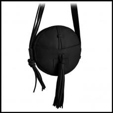 Кожаная женская сумка КРУГЛАЯ BETLEWSKI DOLLY черная Польша