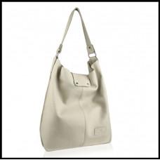 Кожаная женская сумка бренд BETLEWSKI Польша сливочный