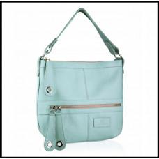 Кожаная женская сумка модная бренд BETLEWSKI A4 Польша голубая