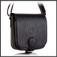 Кожаная женская сумка модная Винтаж бренд BETLEWSKI Польша нубук черная