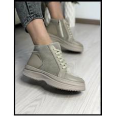 Ботинки удобные из натуральной кожи Код 315/карп цвет визон