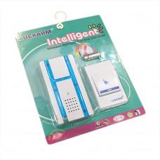 Беспроводной дверной звонок на батарейках D681 синий