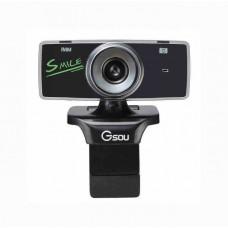 Веб-камера Gemix F9 Black Edition (F9BB) Plug-and-Play 1.3 Мп, СМОЅ-матрица, 360 °, (640x480), микрофон
