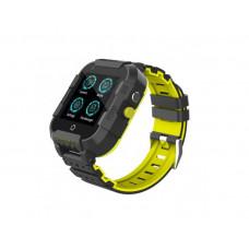 Детские смарт-часы DF09Z 4G черно-желтые с GPS и WI-FI Baby Smart Watch Df39Z Original Plus С видеозвонков 4G