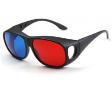 Стерео-очки 3D (анаглифные) пластик, красно-синие (111)