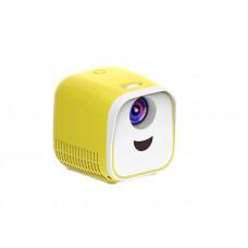 Проектор мини UFT Laus Yellow (VP2) компактный 400-600 люмен / 320х240 / 0.25 кг, динамик, 16: 9.