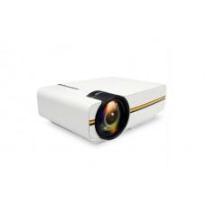 Проектор мультимедийный с динамиком Led Projector LEJIADA YG400 яркость 800 Лм, выходы: USB-порт