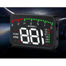 Проектор, проекция приборной панели на лобовое стекло автомобиля OBD2-X5  спидометр (универсальный)