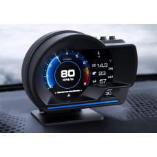 Спидометр MAF Multicolor V60 GPS Turbo Boost Температура воды, масла, воздуха, Соотношение топлива Тахометр