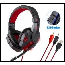 Игровая гарнитура наушники QearFun для PS4 PC X box красные