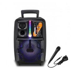 Колонка-чемодан 8 дюймов 10 Вт BT OEM PK-16 Портативная акустика с питанием от аккумулятора