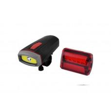 Велосипедный фонарь 2 режима ближний и дальний свет со стопом Велофара BL 808
