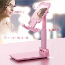 Складная, телескопическая подставка для телефонa, планшета m-513 розовая