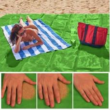 Коврик для пляжа антипесок, пляжное покрывало - подстилка  200х200 см Салатовый