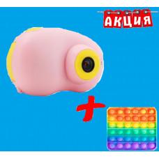 Детский фотоаппарат Kids Travel Camera IPS HD JYC + в подарок Сенсорная игрушка антистресс Pop It Поп Ит