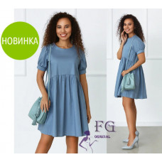 "Летнее свободное платье мини ""Zlata""  42-44, 46-48"