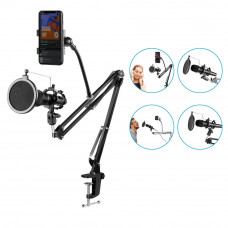 Микрофонная стойка пантограф GAZ-103 держатель телефона ветрозащита
