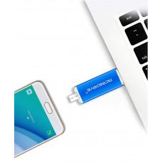 Двухсторонняя флешка USB и micro-USB + переходник Type-C Microdrive 32GB