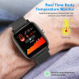 Умные часы T98 водонепроницаемые с тонометром и измерением температуры тела