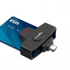 Мобильный считыватель дебетовых банковских карт Rocketek CSCR3, тип c, онлайн-считыватель смарт-карт